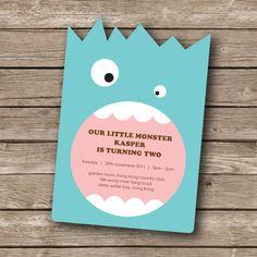 Printable+invitation++Little+monster+birthday+party+por+envyanvi,+$12,00