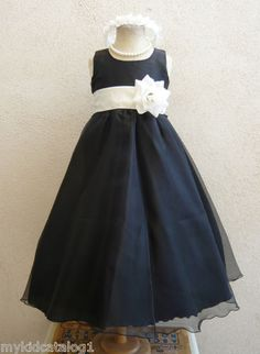 Most practical choice...KC1 New Black Ivory Claret Wedding Bridal Party Kids Gown Flower Girl Dress | eBay