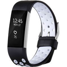 Fitbit Charge 2 HR Replacement Wristband Adjustable Band Black-White Large New   Sporting Goods, Fitness, Running & Yoga, Fitness Technology   eBay!