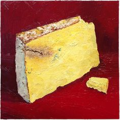 """Westcombe Cheddar is one of the three authentic traditional cheddars made in the county of Somerset. It's incredibly good. This portrait is 12x12"""" and for sale at www.mikegeno.com"""