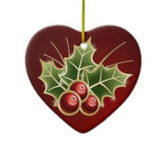 Shining Holly Berry Ornament