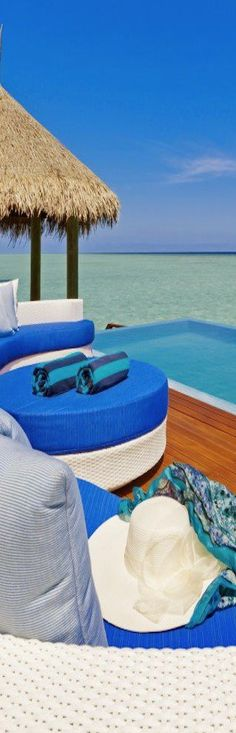 ☼ Life by the sea - blue ocean Velassaru Maldives Resort Dream Vacations, Vacation Spots, Maldives Resort, Maldives Vacation, Maldives Beach, Paradise Travel, Tropical Paradise, Book A Hotel Room, Sand And Water
