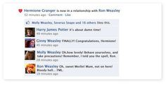 Harry Potter Facebook Conversation