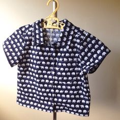 A personal favourite from my Etsy shop https://www.etsy.com/au/listing/515959687/size-2-navy-blue-and-white-elephant