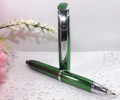 3 in 1 Medina Lighted Tip Green Stylus Pen Flashlight by Adler - HIGH QUALITY #3in1MetalBallpointPenStylusFlashlight
