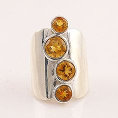 "Citrine ""Jessica"" Sterling Silver Ring"