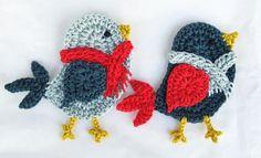pajaritos con bufanda crochet