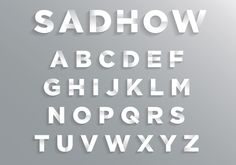 https://www.vecteezy.com/vector-art/120026-font-with-soft-shadow  Font with Soft Shadow
