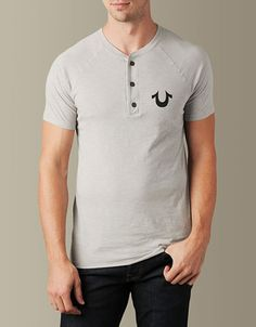 Our men's henley makes the perfect under layer!