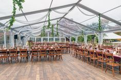 Clear Structure tent with wood floor