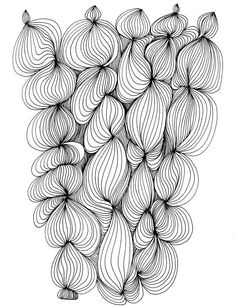 doodles . . .she says!  I've loved this so dearly, this shape within each loosely bound skein of yarn ~ without ever understanding why . . . now I see it