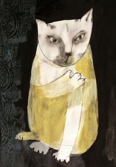 "whitetornpaper: ""cat """