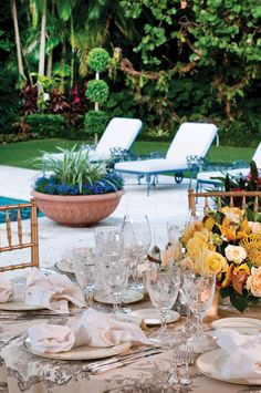 Palm Beacher Tom Quick throws a dinner party. Photo by Jerry Rabinowitz