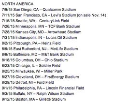 "North American ""On The Road Again"" Tour dates!!!!!!!!!!!!!!!!!!!!"