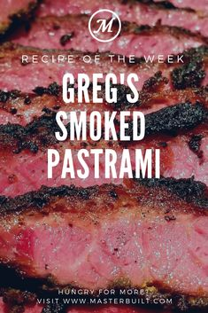 Fan Recipe: Gregs Smoked Pastrami - Smoker - Ideas of Smoker Traeger Recipes, Smoked Meat Recipes, Grilling Recipes, Beef Recipes, Smoked Beef, Smoked Corned Beef Brisket, Brisket Meat, Grilling Ideas, Spinach Recipes