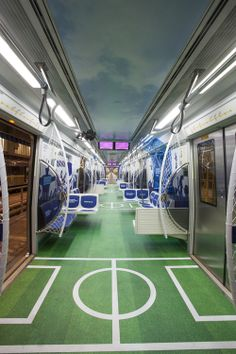 São Paulo subway adapted to the Worls Cup. (by Inteligemcia)