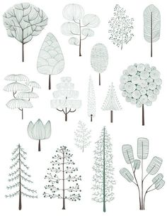 Architectural Drawing Patterns Illustration of pine trees collection Free Vector Architecture Graphics, Architecture Drawings, Architecture Collage, Modern Architecture, Planer Layout, Garden Illustration, Creative Illustration, Collage Illustration, Tree Graphic