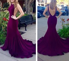 Purple Long Prom Dress,sexy Mermaid