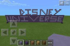 Made in Minecraft  PE version Disney Universe!