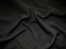 3 meters Black wool boucle fabric,material ideal for dress and suits.