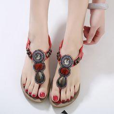 be207d0d1301 Hopscotch - SIKETU - Women Red Strappy Sandals Beach Sandals