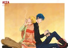 ACCA 13-Ku Kansatsu-Ka (ACCA13区監察課)Jean Otus and Niino find support and solace in each other in this warmly colored poster from Spoon.2Di vol. 24 (Amazon Japan | eBay), illustrated by animation director Keisuke Kojima (小嵨慶祐).