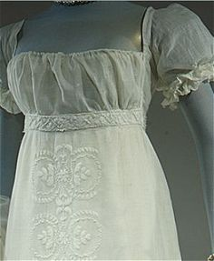1804 French evening dress