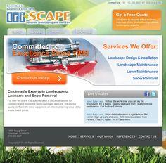 Web Design Project Ideas ideas for web design Triscape Landscaping Is A Cincinnati Web Design Project For Ideas And Pixels Landscaping Web Design