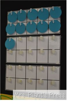 Using ten frames as part of your calendar routine...perfect for a quick number sense activity each day!