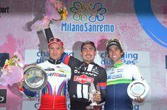 Gallery: 2015 Milano-Sanremo - The podium: 2014 champion Alexander Kristoff, John Degenkolb and Michael Matthews. Photo: Tim De Waele   TDWsport.com
