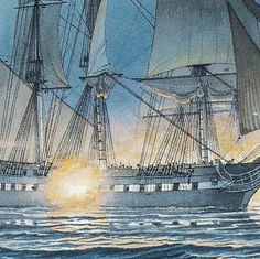 USS Constitution defeating Cyane and Levant by WilliamGilkerson