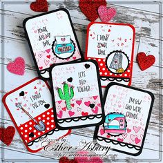 Sunday School Kids, Atc Cards, Tiles Texture, Artist Trading Cards, Love Valentines, Brush Pen, Card Making, Paper Crafts, Sassy