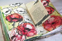 Art journal page by Donna Downey. Click to watch the video of her creating this!