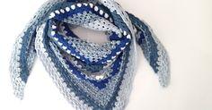 Pour mon anniversaire, j'ai été gâtée par ma coupine blogueuse All mad(e) Here (clic clic pour aller faire un tour sur son blog) . Et entre... Knitting Yarn, Accessories, Fashion, Crochet Shawl Patterns, Learn Crochet, Blue, Tricot, Fingers, Moda