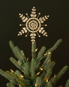 Crafted and embellished by hand, our snowflake topper brings vintage elegance to any Christmas tree. Shop Christmas decorations on Balsam Hill today.