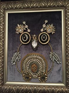 Owl recycled jewelry art by Leslee Martin