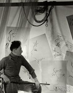 Jean Cocteau, 1935 by Cecil Beaton.