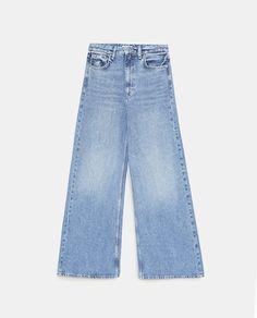 Image 8 de JEAN PALAZZO de Zara Palazzo, Zara, Fall Wallpaper, School Outfits, High Waist Jeans, Denim, School Clothing, Model, Cotton