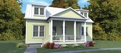 Low Country House Plan with 1686 Square Feet and 3 Bedrooms from Dream Home Source | House Plan Code DHSW076521
