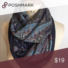 NWOT black/blue paisley print infinite scarf NWOT black/blue paisley print infinite scarf Accessories Scarves & Wraps