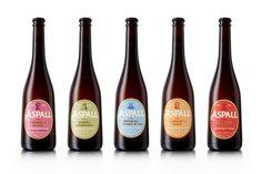 Packaging design by NB Studio for British cider maker Aspall