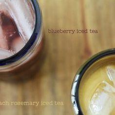Peach Rosemary Iced Tea & Blueberry Iced Tea