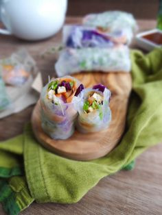 this is a better than average recipe..., Sweet & Sour Tofu Spring Rolls...