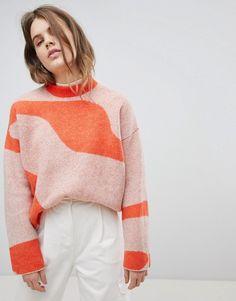 Weekday   Weekday Jacquard Knit Sweater
