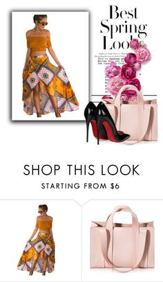 """""""Untitled#10600"""" by xiaophai ❤ liked on Polyvore featuring H&M, Corto Moltedo and Christian Louboutin"""