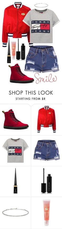 """Untitled #82"" by kristine9595 ❤ liked on Polyvore featuring Dr. Martens, Tommy Hilfiger, Hilfiger, Christian Louboutin, Marc Jacobs, Dorothy Perkins and Lancôme"