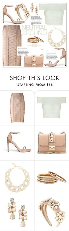 """November 9, 2016-.1.-"" by adriianne ❤ liked on Polyvore featuring Balmain, Alexander McQueen, Stuart Weitzman, Valentino, DIANA BROUSSARD, Nest, Kate Spade, Dolce&Gabbana, croptops and neutrals"