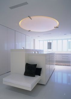 omg white closet with built in seating