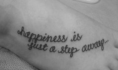 happiness is just a step away