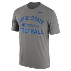 Men's Nike Boise State Broncos Dri-FIT Legend Lift Tee, Size: Medium, Med Grey